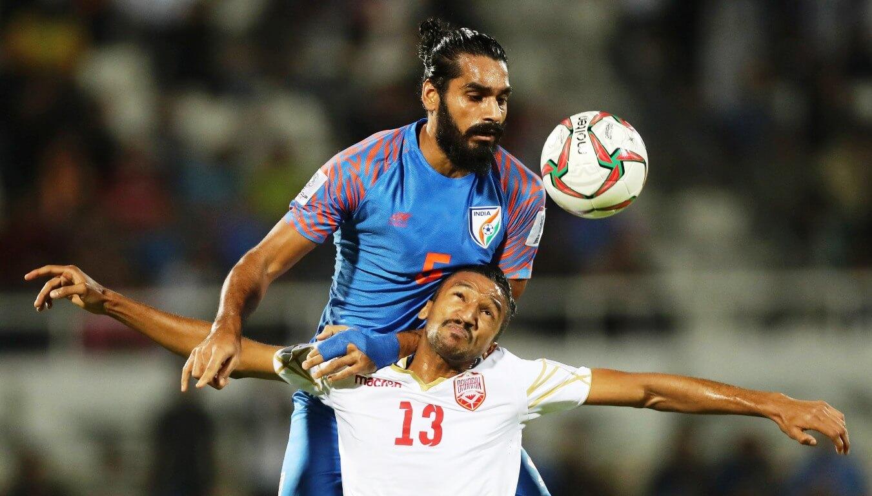 Sandesh Jhingan against Bahrain
