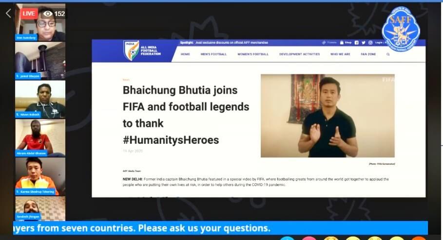 Sandesh Jhingan, SAFF, Bhaichung Bhutia